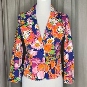 NWOT Aeropostale Fleeced Floral Cropped Blazer